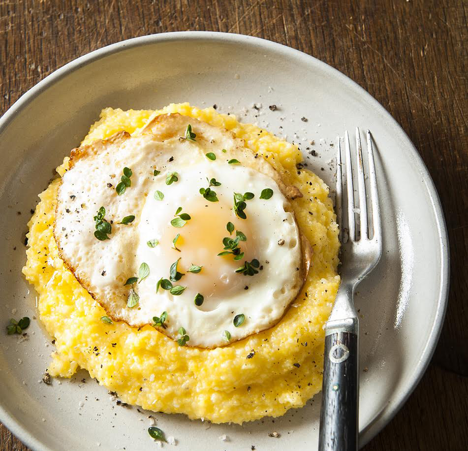 Polenta with Fried Egg // Photo by Mette Nielsen