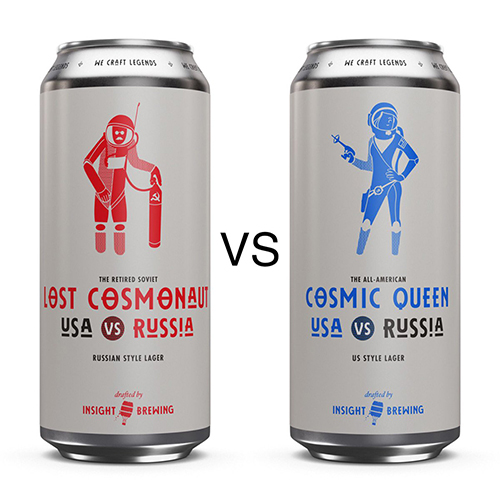Insight Brewing Company's USA vs. Russia Lagers // Photo courtesy Insight Brewing Company Twitter