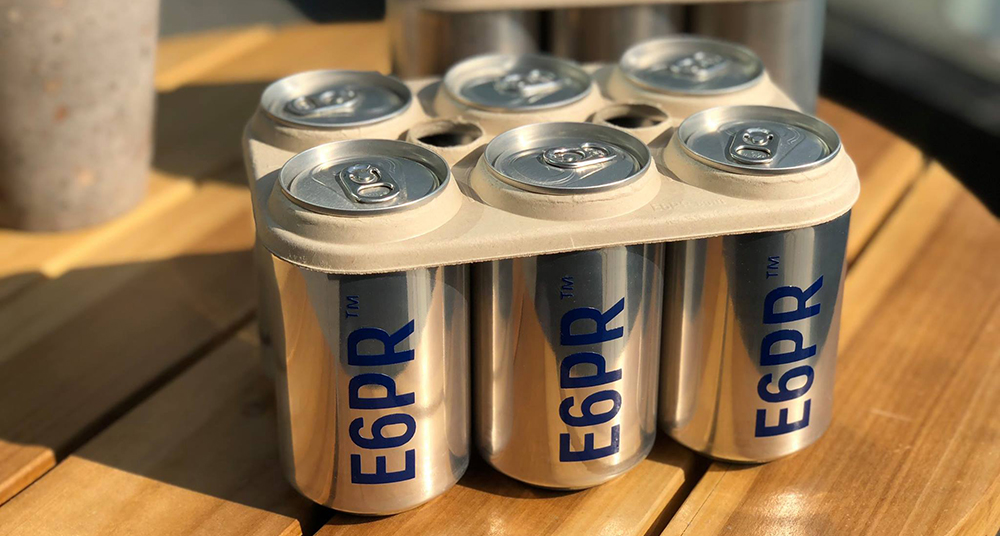 Eco Six Pack Rings are edible, biodegradable can carriers and are safer for marine life than plastic holders // Photo courtesy of E6PR