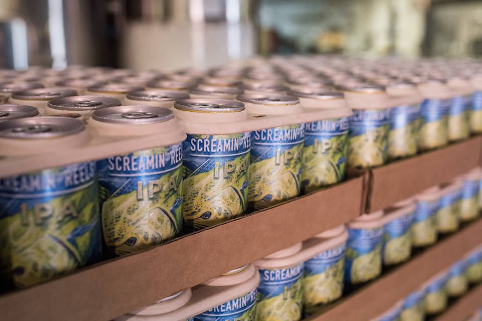 Saltwater Brewery tested the eco-friendly rings last year in a collaboration with the We Believe organization // Photo courtesy Saltwater Brewery Facebook