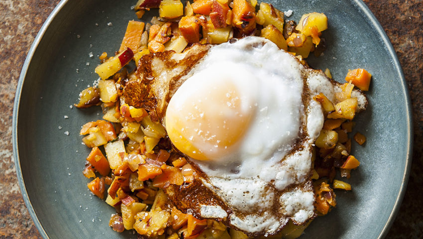 Cooking with Beth Dooley: Fried Duck Egg with Red Flannel Hash Recipe
