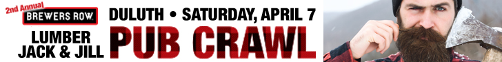 Fitger's Brewhouse Pub Crawl April 2018 Banner