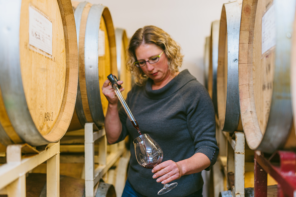 Anne Hubach of Helioterra Wines // Photo by Josh Chang, courtesy Helioterra Wines