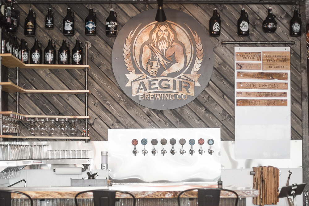 The scene is set of for the grand opening o AEGIR Brewing in Elk River, Minnesota // Photo by Kayla Lee