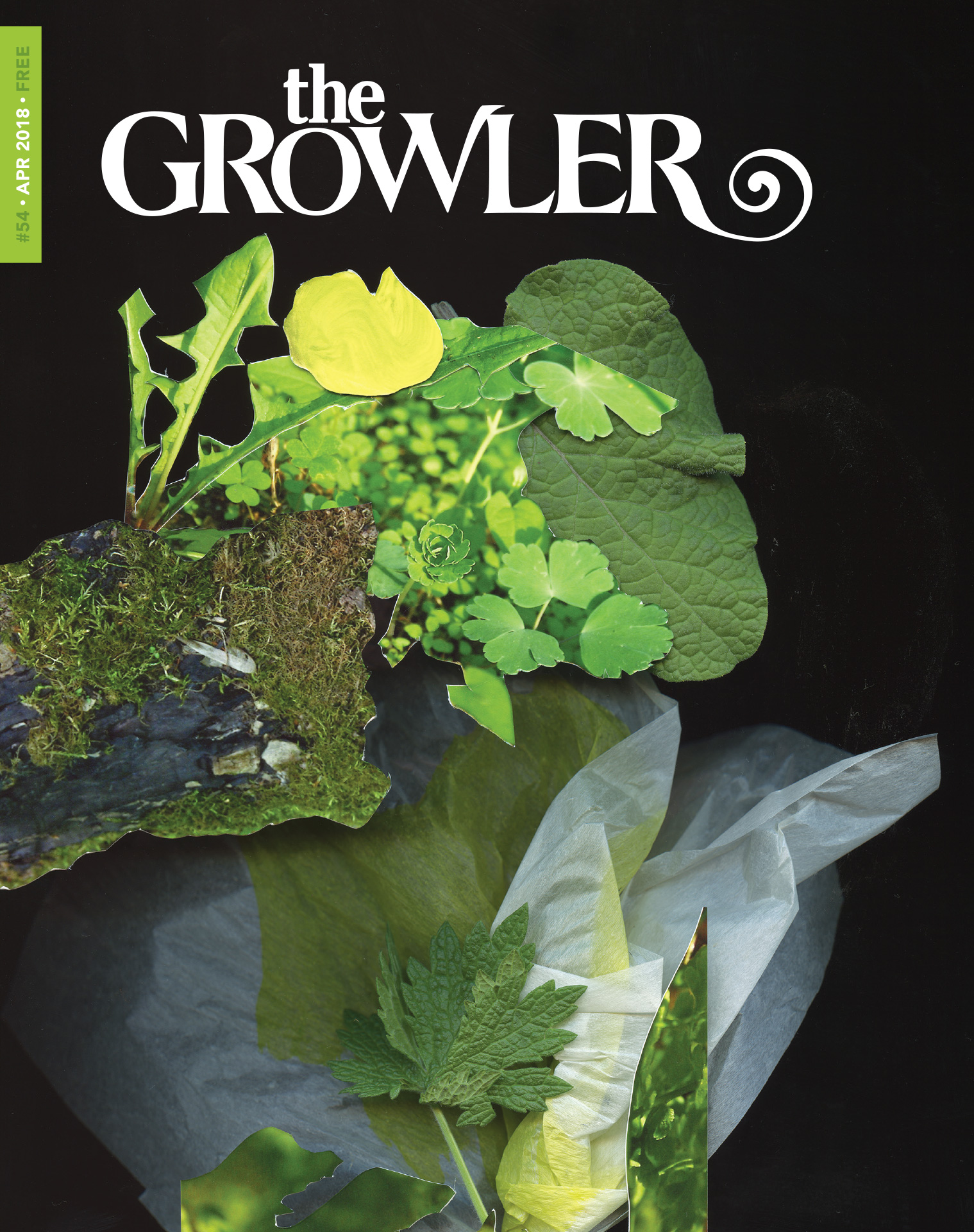 "Regan Golden's cover art for the April ""Green"" Issue 54 of the Growler Magazine // Art by Regan Golden"