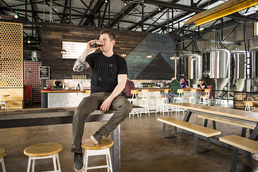 Bobby Blasey, head brewer at Able Seedhouse + Brewery // Photo by Tj Turner