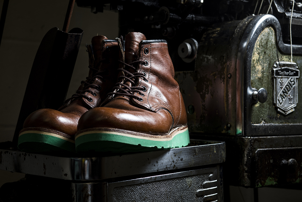 A pair of boots recently resoled at Greenwhich Vintage // Photo by Tj Turner