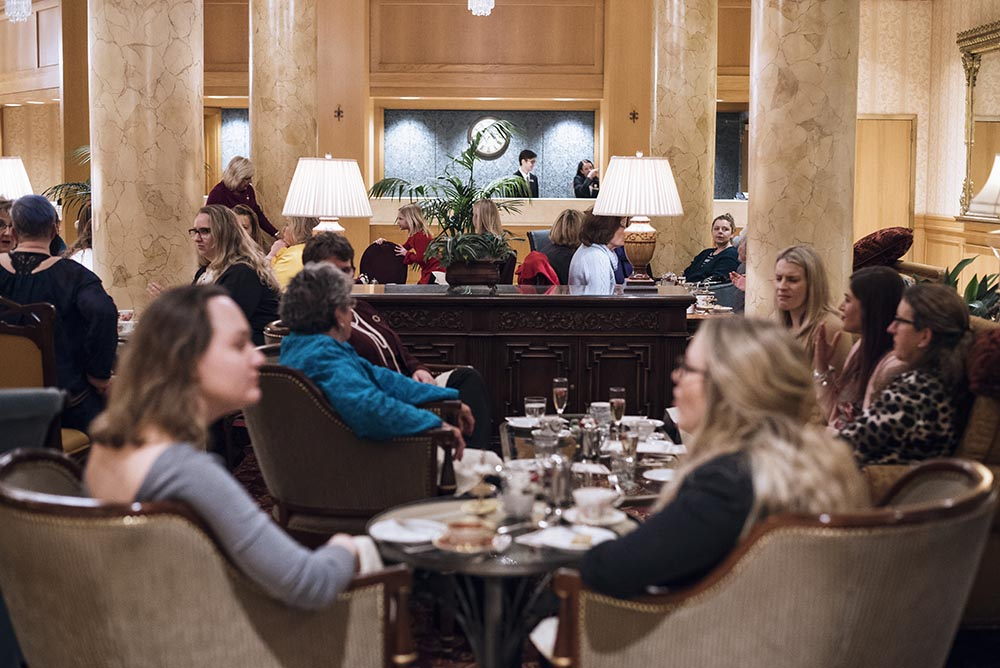 Patrons of afternoon tea at The St. Paul Hotel// Photo by Madalyn Rowell