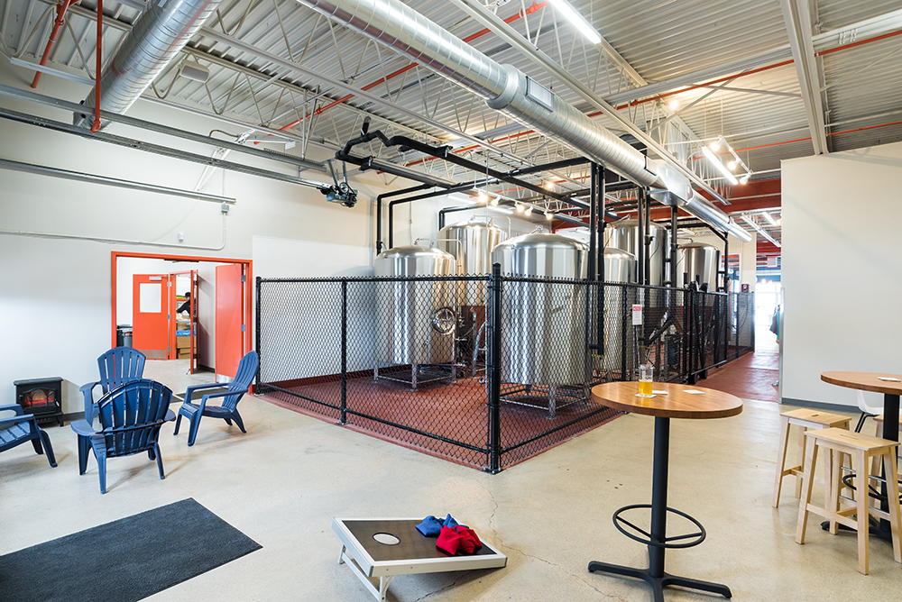Patrons can get an up-close look at Wooden Hill Brewing's brewhouse // Photo by Kevin Kramer