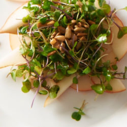 Cooking with Beth Dooley: Spring Pear Salad with Microgreens Recipe