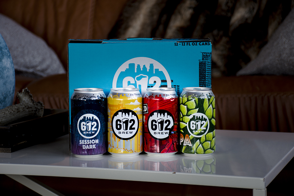 612Brew's new multipack includes two new beers: IPA and Session Dark // Photo courtesy of 612Brew