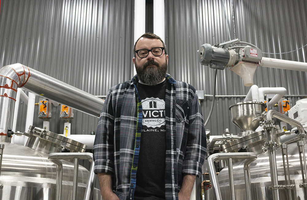 Head brewer Bradley Zimmerman will helm the brewhouse at Invictus Brewing, opening in Blaine on May 22, 2018 // Photo by Aaron Job