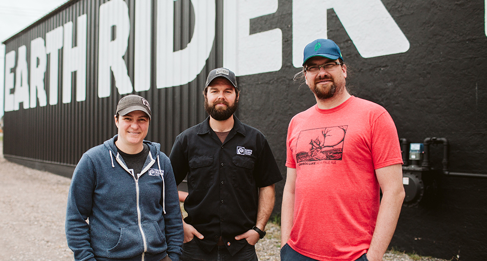 Earth Rider Brewery's Rule of Three: Allyson Rolph, Tim Wilson, and Frank Kaszuba