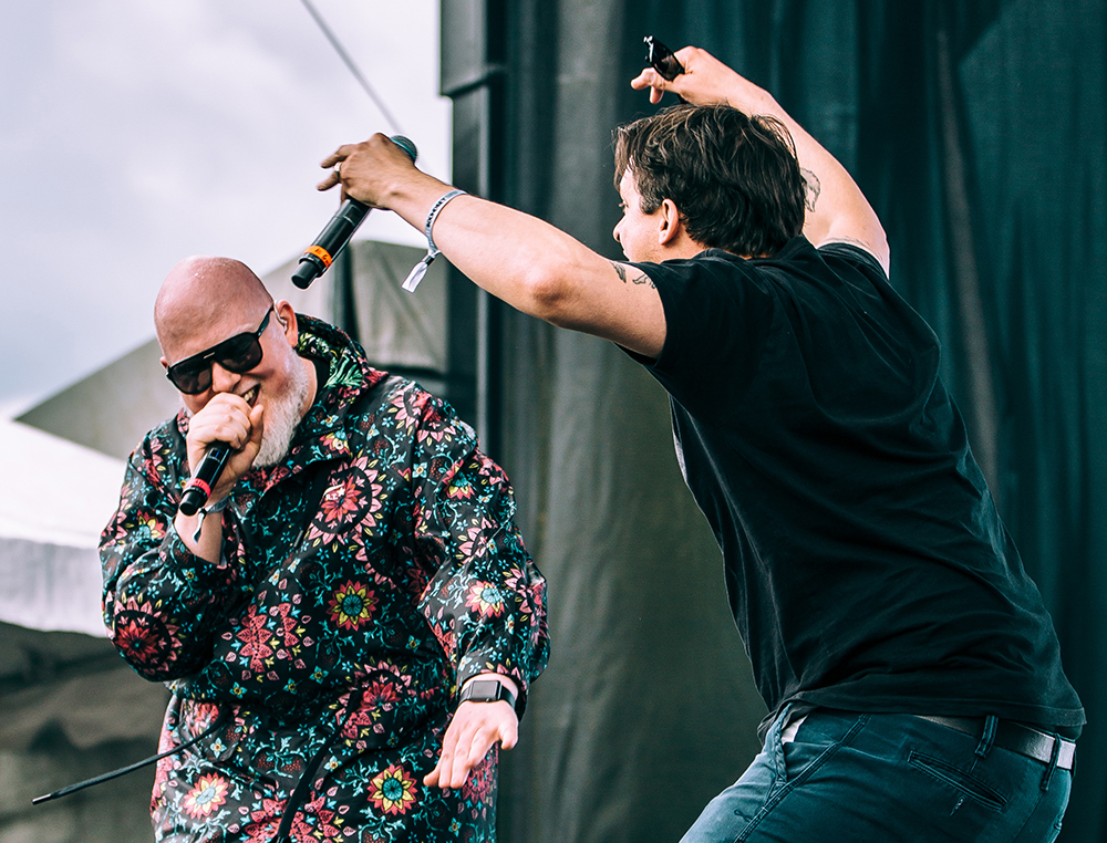 Brother Ali, left, with Slug of Atmosphere, right // Photo courtesy Juggernaut Sound