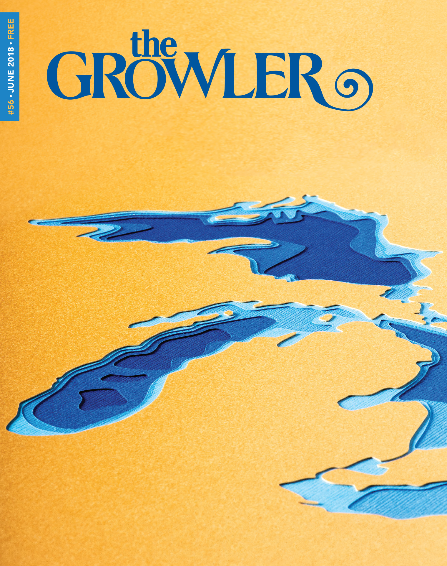 "The Growler's Issue 56 ""Great Lakes"" cover art done by Marnie Karger // Photo by Kevin Kramer"