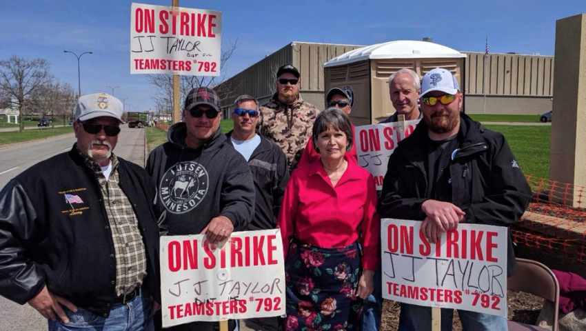 J.J. Taylor–MN president Christopher Morton and Teamsters' Ed Reynoso outline contract agreement to end seven-week strike