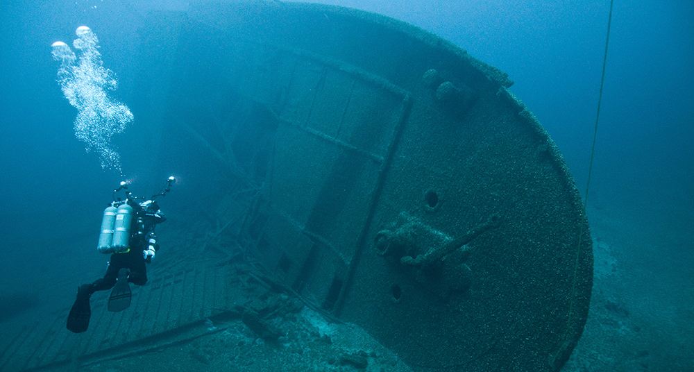 Shipwreck NORMAN in upper Lake Huron // Photo courtesy Thunder Bay National Marine Sanctuary