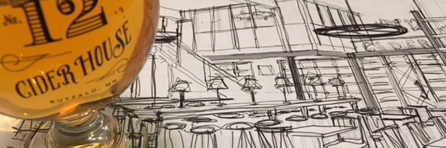 Sketch of Number 12 Cider House's new Minneapolis cidery and taproom // Photo via Number 12 Cider House's Twitter