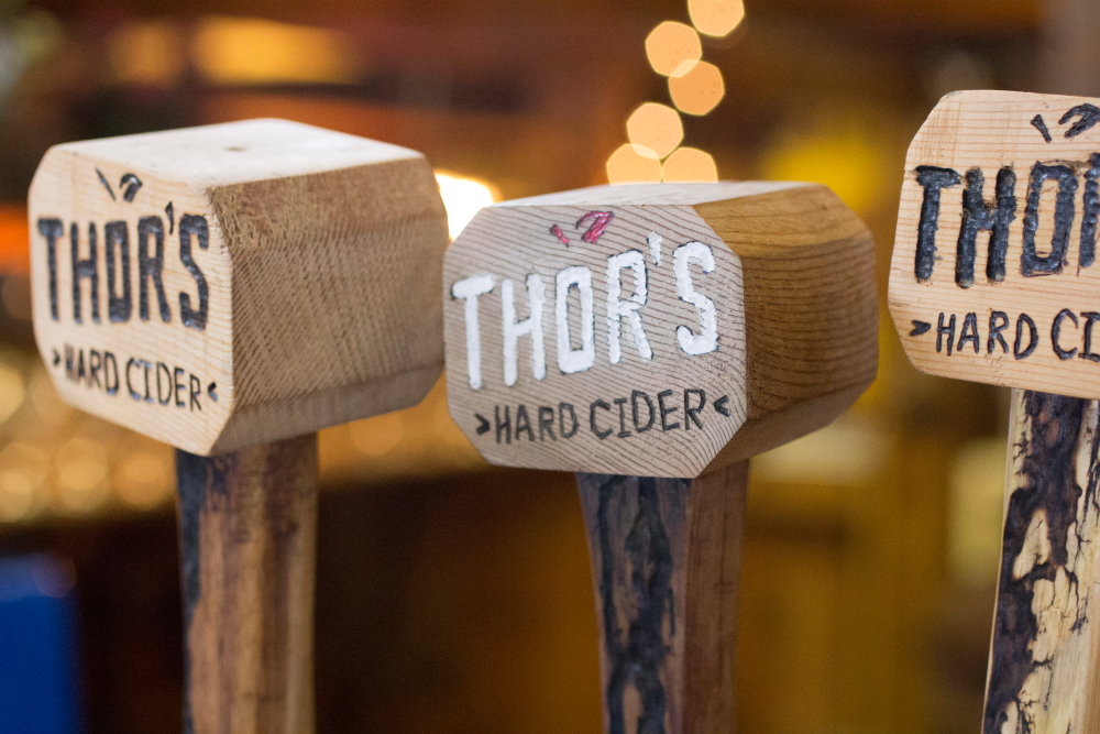Thor's Hard Cider at the taproom at Aamodt's Apple Farm in Stillwater, Minnesota // Photo by Brian Kaufenberg, The Growler