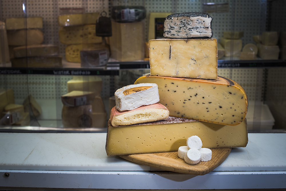 A selection of cheeses at Surdyk's Liquor & Cheese Shop // Photo by Kevin Kramer