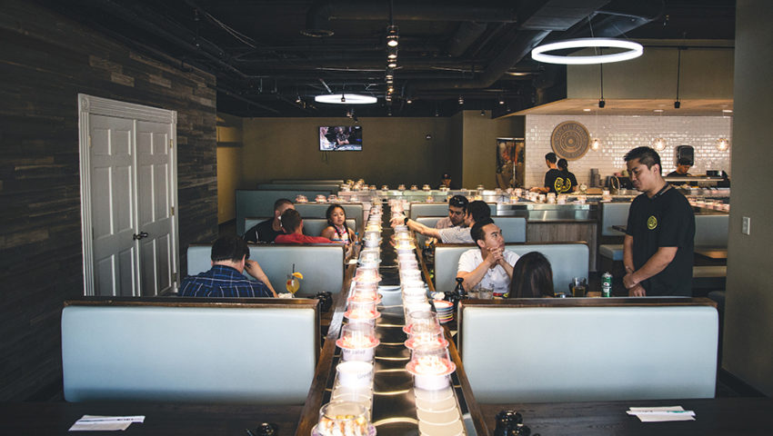Review: Sushi Train's gimmick delivers real flavor