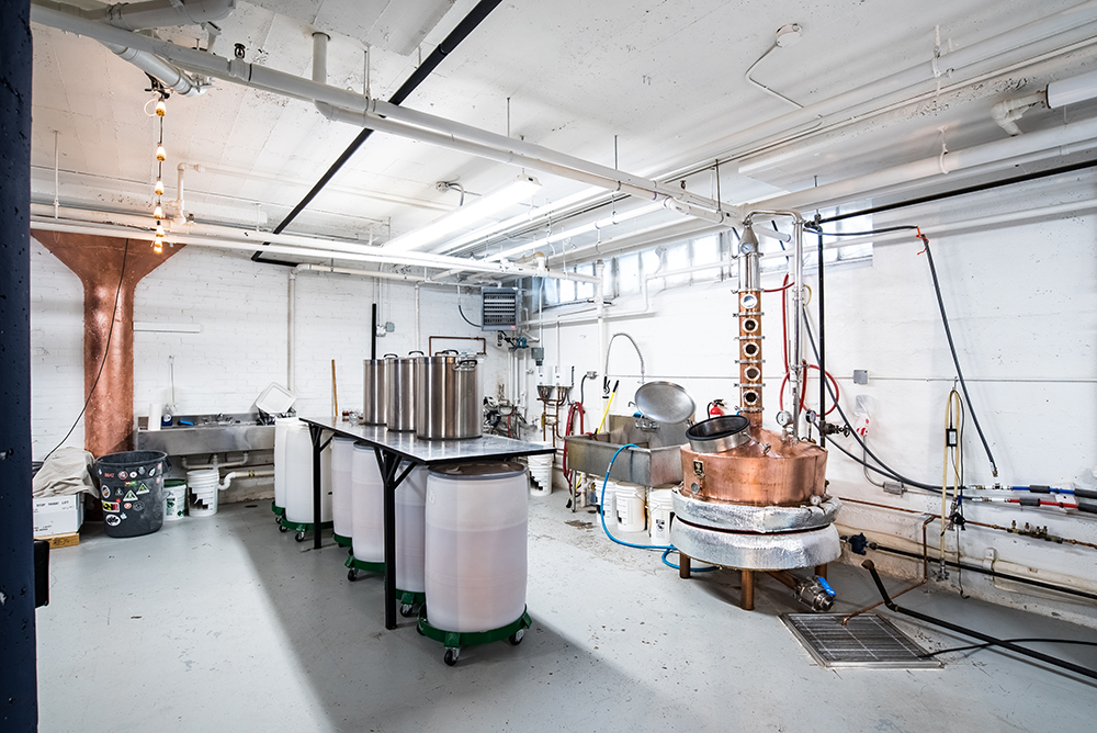 Brother Justus' still and production area is captained by head distiller James Ryan Jefferson // Photo by Kevin Kramer