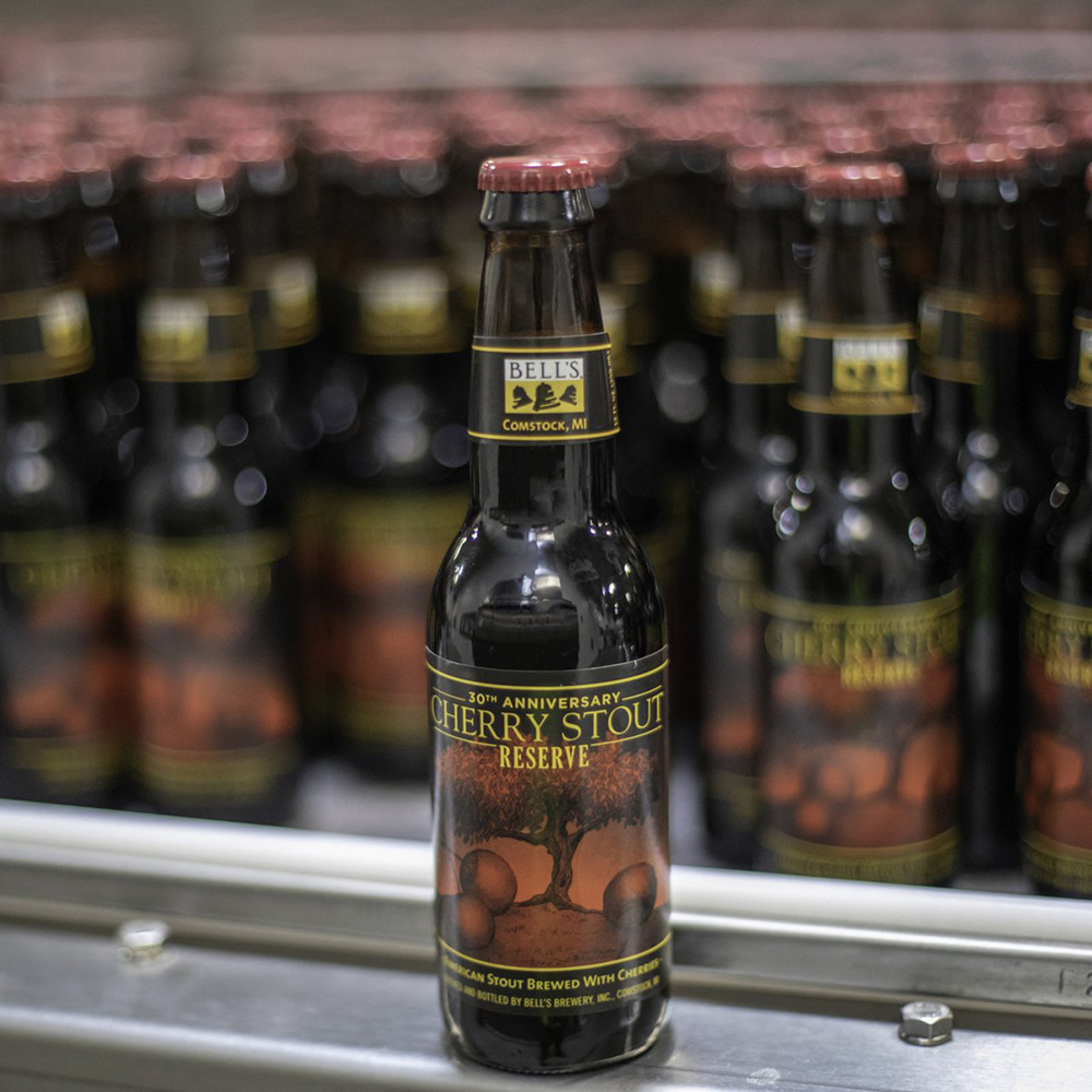 Bell's Brewery 30th Anniversary Cherry Stout Reserve // Photo via Bell's Brewery Twitter