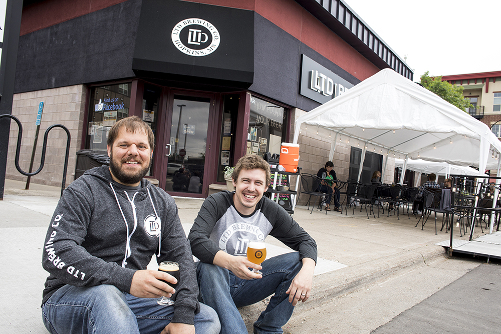 Jeremy Hale, left, head brewer, and Blake Verdon, right, head brewer, co-own and operate LTD Brewing Company in Hopkins, Minnesota // Photo by Tj Turner