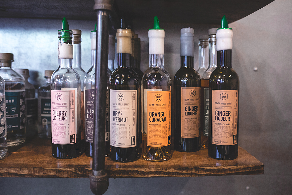 Some of the liqueurs 11 Wells plans to offer // Photo by Sam Ziegler
