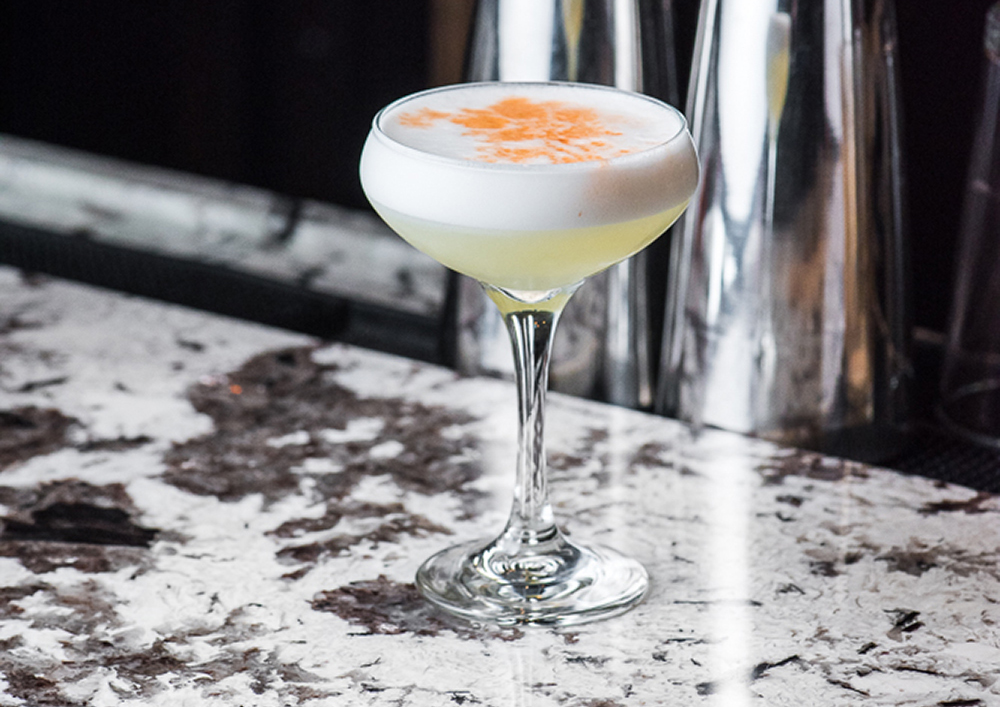 The finished egg white margarita at Fitzgerald's // Photo by Kevin Kramer