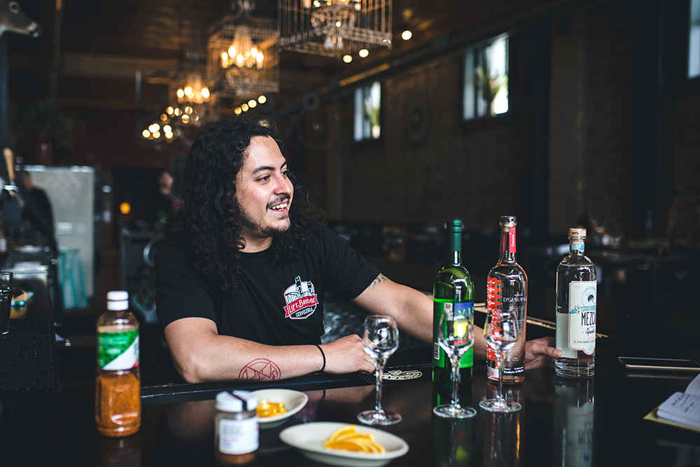 Javy Rojas, a bartender at Pajarito in St. Paul, Minnesota // Photo by Sam Ziegler