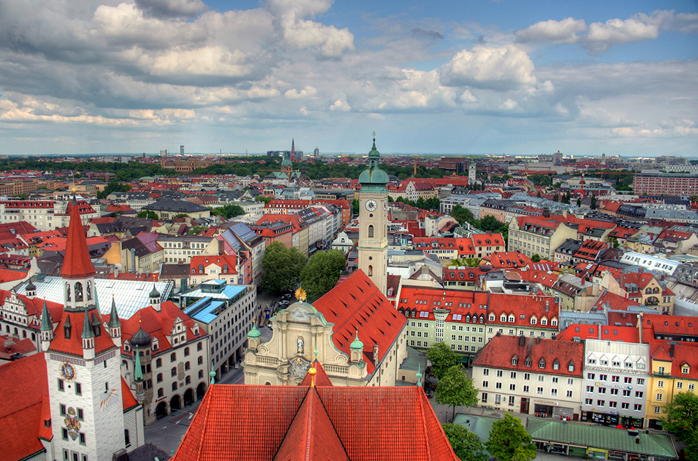 The Munich cityscape on May 13, 2012 // Photo by John Morgan, Flickr