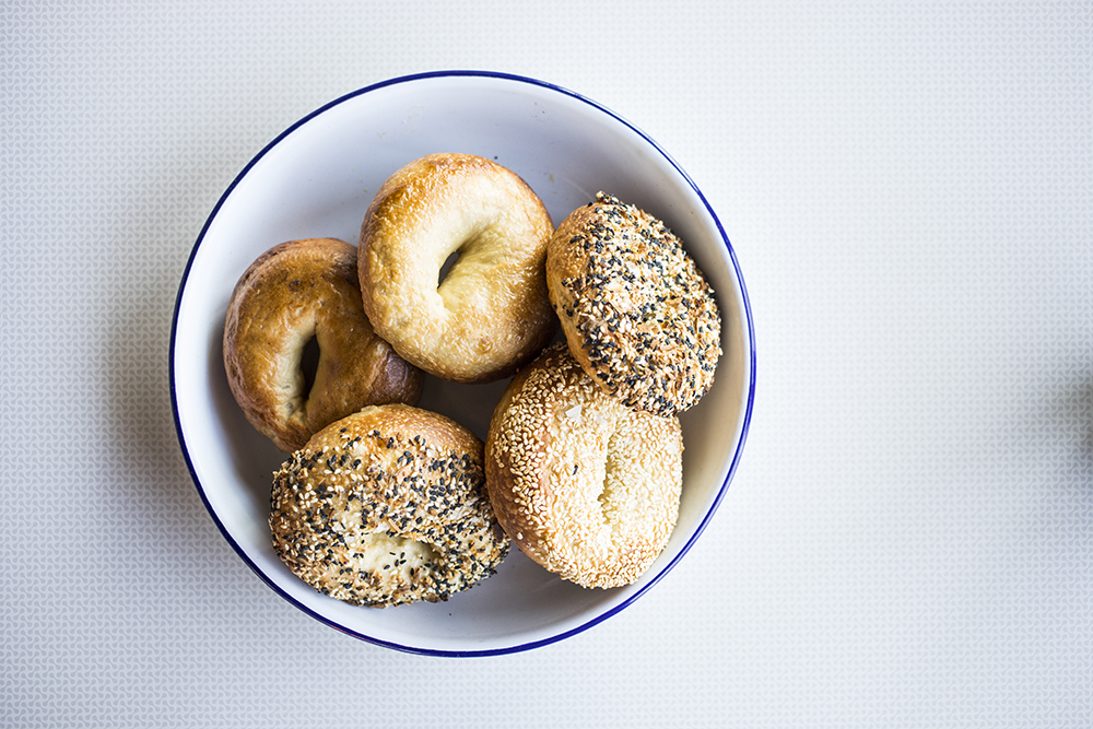Various bagels // Photo by Tj Turner