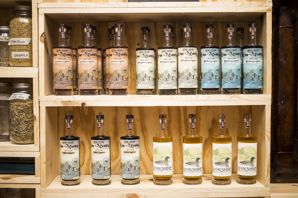 A variety of the liquors Loon Liquors now offers // Photo by Tj Turner