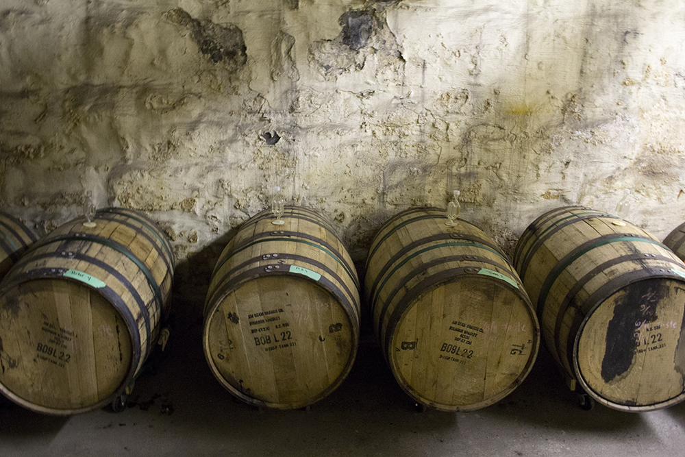 The barrels in the basement of Thirsty Pagan // Photo by Ellen Burkhardt