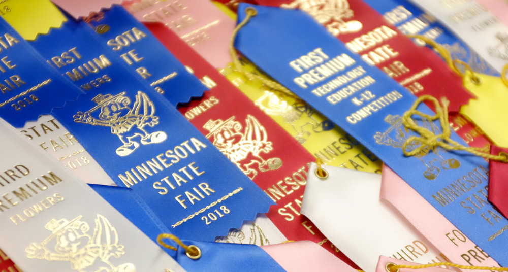 2018 Minnesota State Fair Ribbons // Photo by Keri Huber, courtesy Minnesota State Fair
