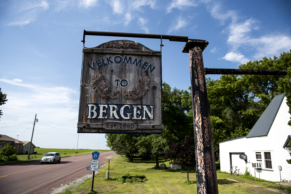 Bergen, Minnesota, is home of Bergen Bar & Grill // Photo by Stephen Maturen