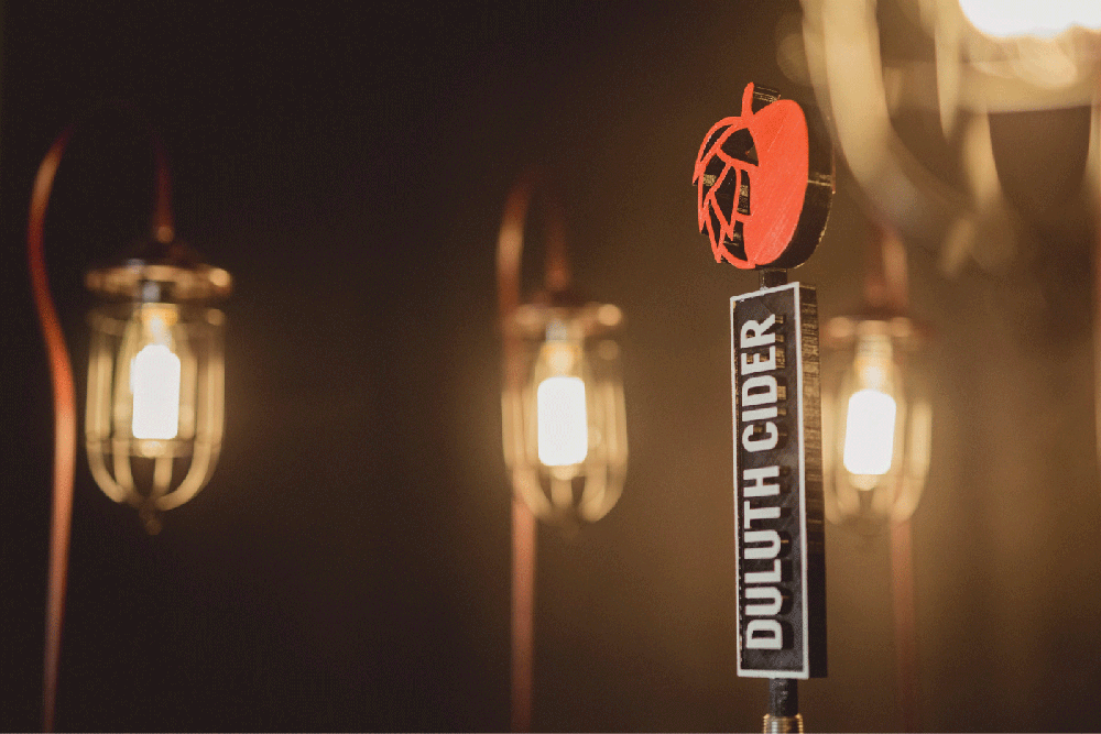 A Duluth Cider tap handle // Photo courtesy Duluth Cider Company