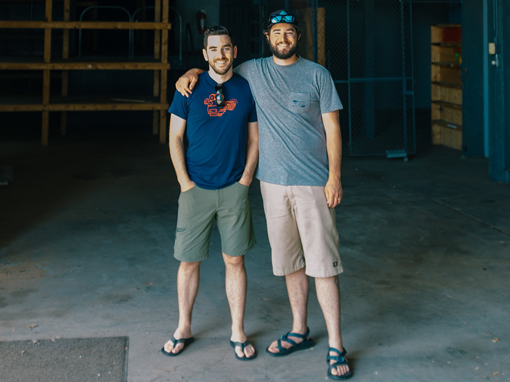Adam Ruhland, left, and Andrew Price, right, of Wild State Cider // Photo courtesy Wild State Cider