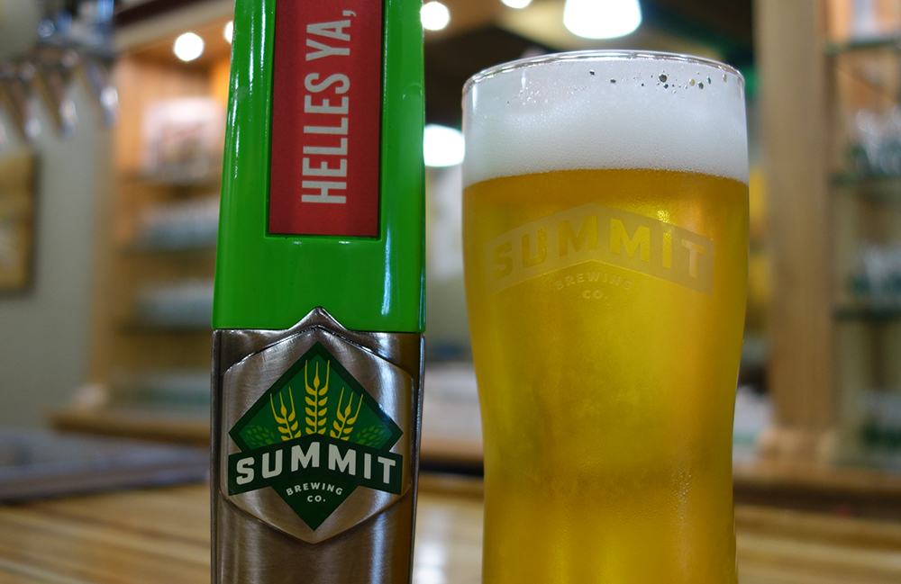 Summit Brewing Company's Helles Ya, You Betcha! // Photo courtesy Summit Brewing Company