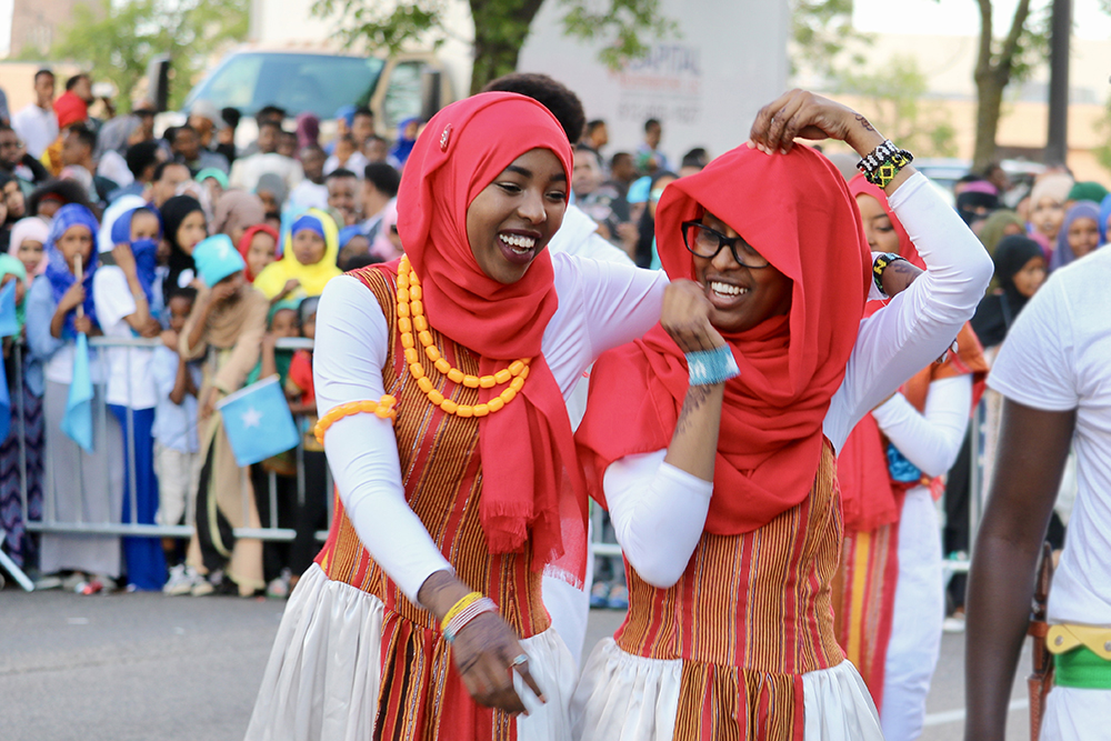 Members of the Somali Museum Dance Troupe (mostly high school and college students) study and perform traditional dances from all regions of Somalia throughout the U.S. // Photo by Mustafa Ali