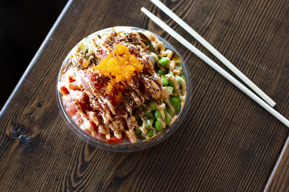 The small Rock-n-Roll Bowl with Tuna at Fish Bowl Poké // Photo by Aaron Job