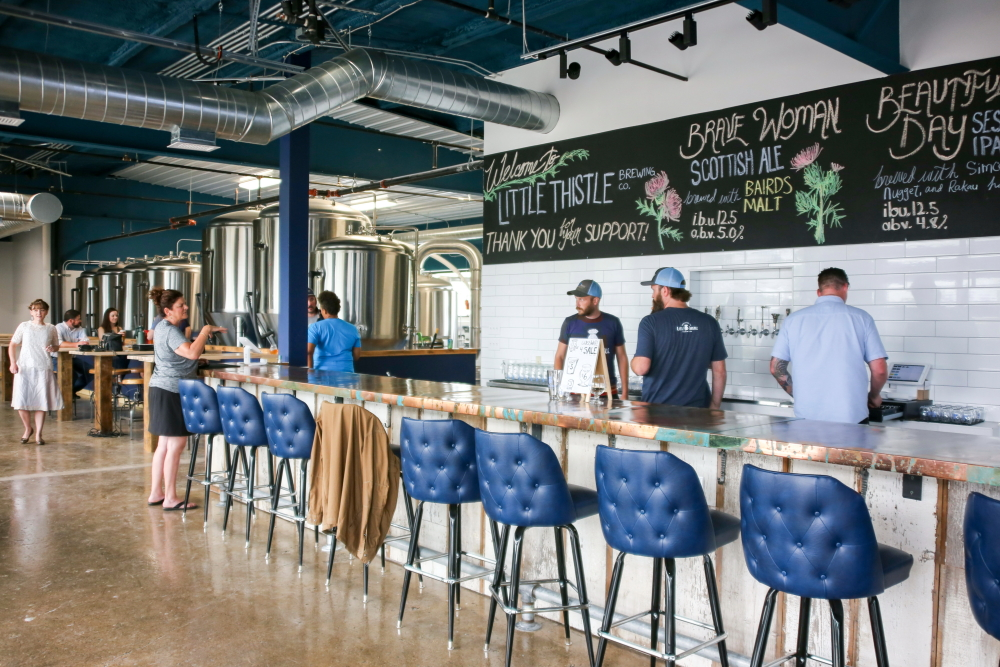 The taproom at Little Thistle Brewing Co. in Rochester, Minnesota // Photo by Louis Livingston-Garcia