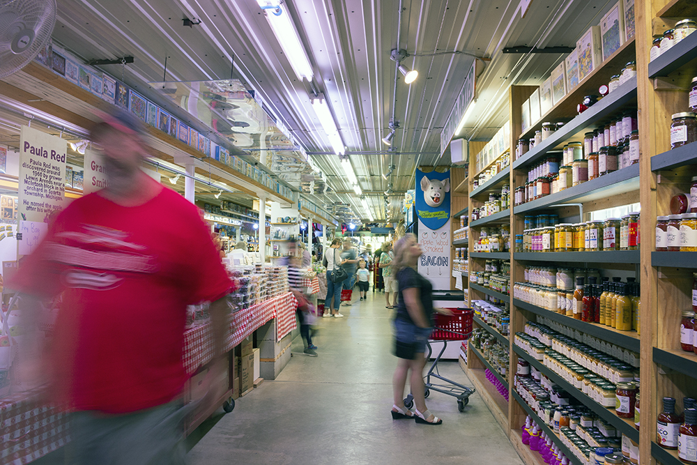 Candy Store goers traverse the many aisles of goods, including pies, pickles, soda, candy and even some noodles // Photos by Aaron Job