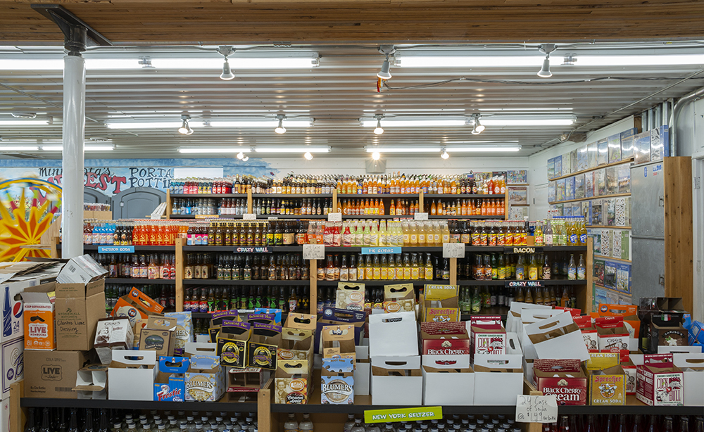 The soda section features soda's from all over the world // Photo by Aaron Job