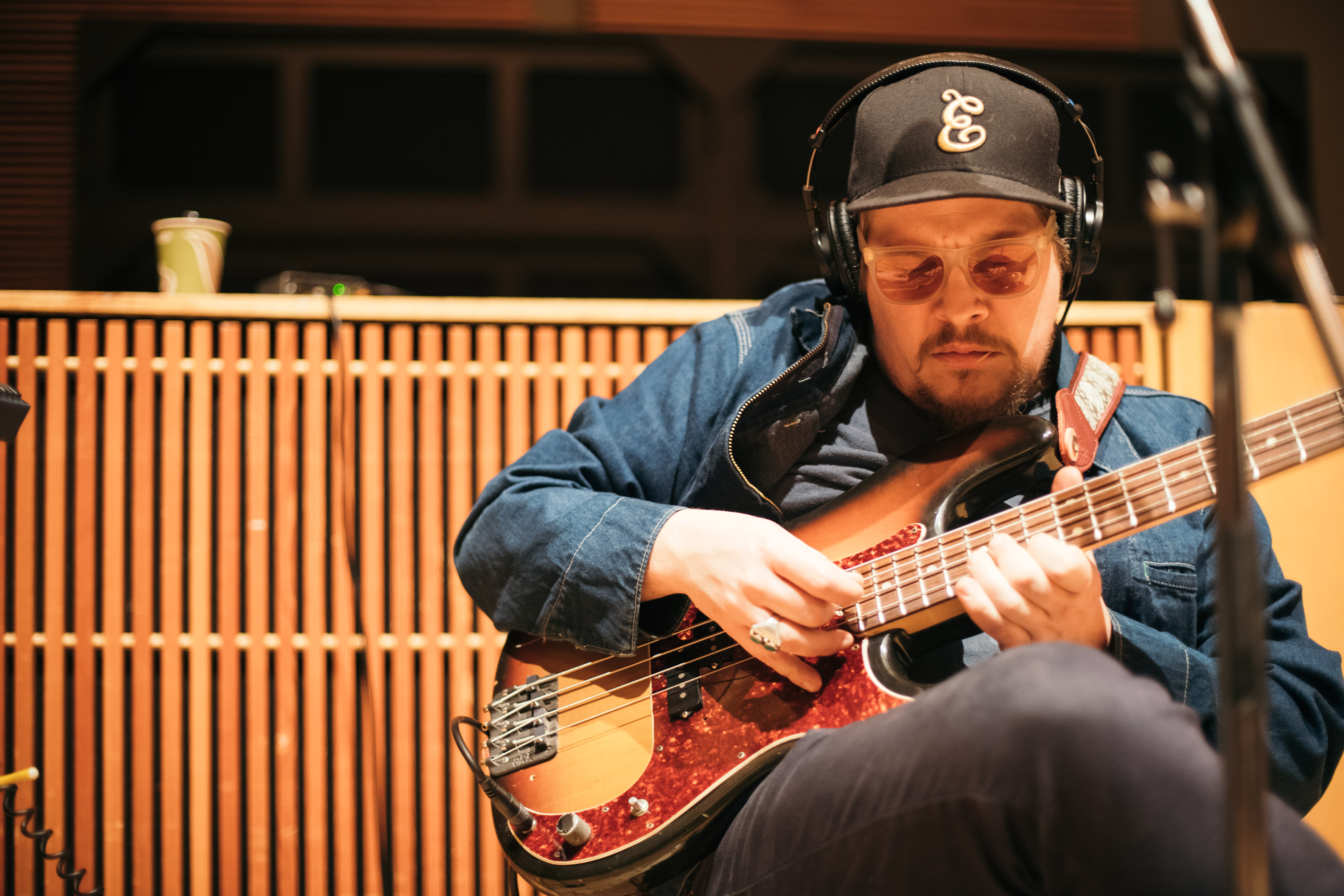 Mike Lewis in studio // Photo by Nate Ryan, MPR