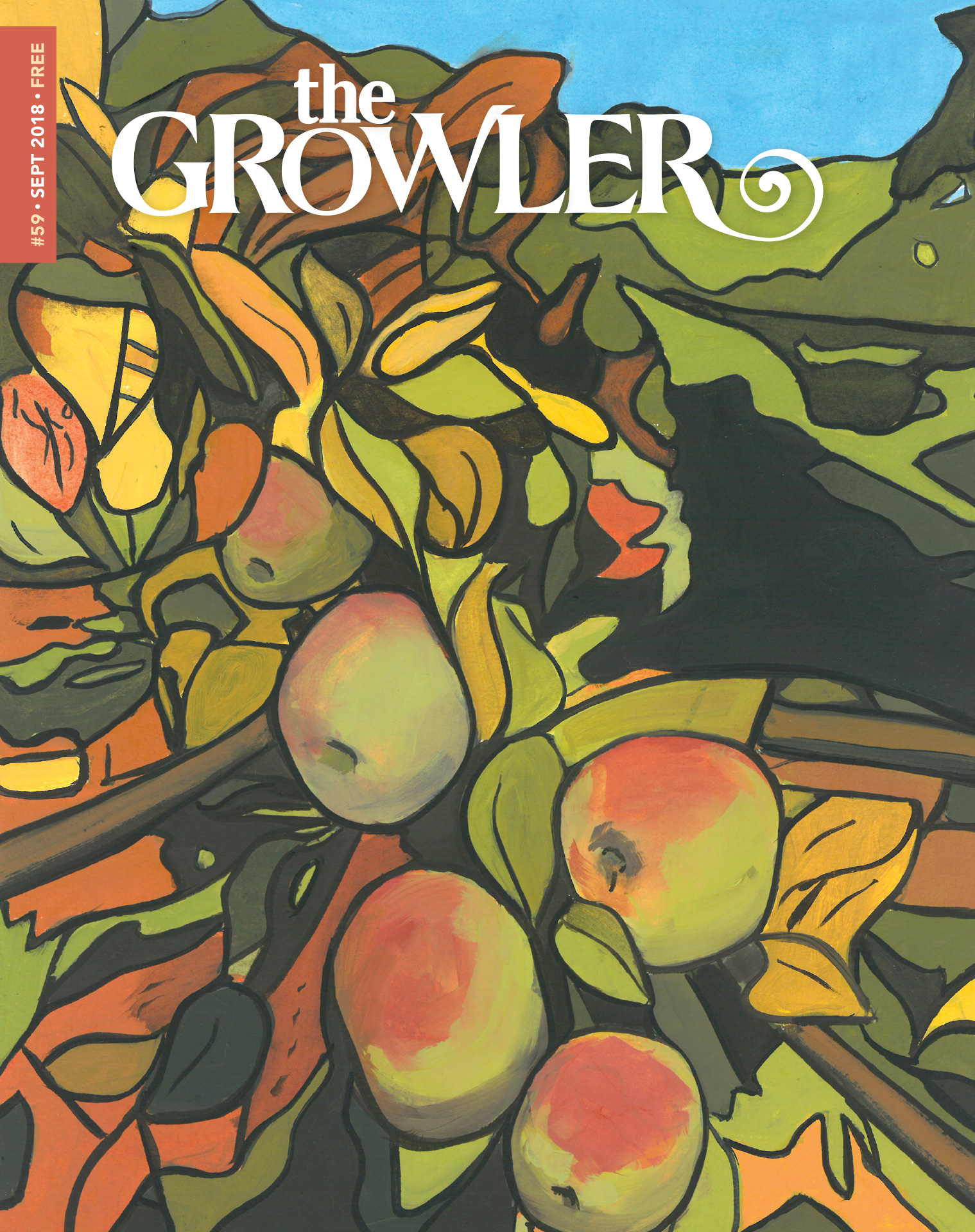 The Growler Issue 59 cover art // Art by Michael Slagle