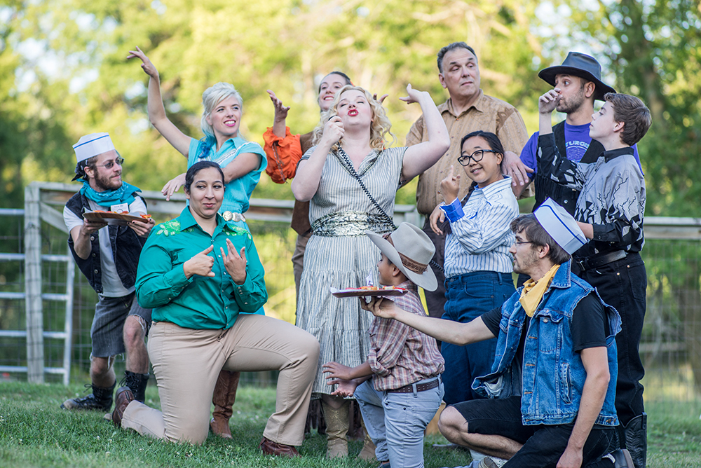 Pop music and classical opera meet picnic-on-a-farm with