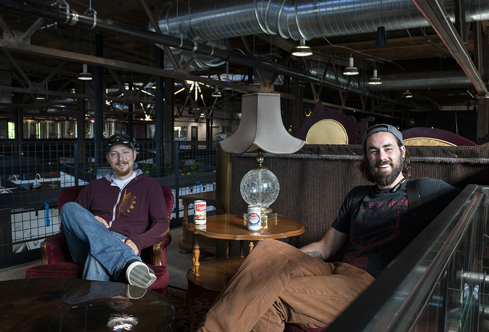 Jordan Standish, left, and Max Boekes, right, of Clutch Brewing Company // Photo by Aaron Job