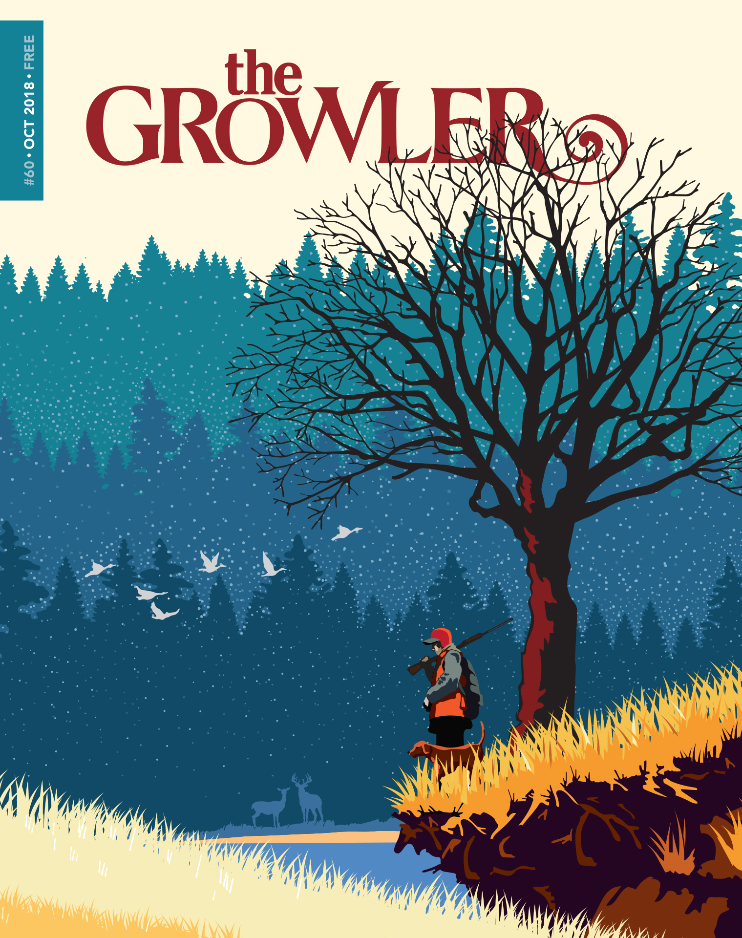 "The October ""Sporting Life"" cover of The Growler by Mark Herman"
